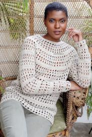 ROWAN Cotton Cashmere en Creative Linen gehaakte Trui Verona 2