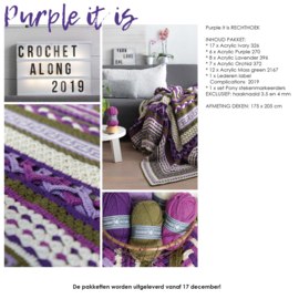 Crochet Along 2019 - Complications Rechthoek Purple It Is!
