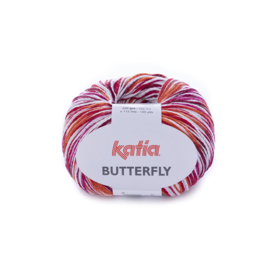 Katia Butterfly - 83 Rood - Fuchsia - Oranje
