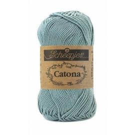 Scheepjes Catona 50 gram - 528 Zilver Blauw