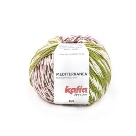 Katia Mediterranea 301 Pistache - Bordeauxpaars - Oranje