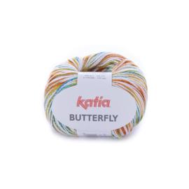 Katia Butterfly - 85 Geel - Oranje - Turquoise
