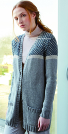 ROWAN Cotton Cashmere en Softyak DK Vest Dotted