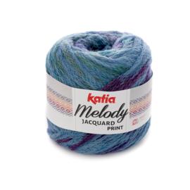 Katia Melody Jacquard Print - 507 Jeans-Blauw-Lila