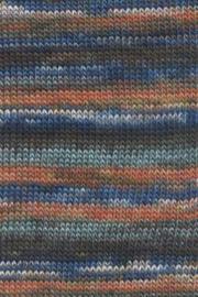 LANG Yarns - Mille Colori 200 gram - 0088 Petrol-Bruin-Grijs