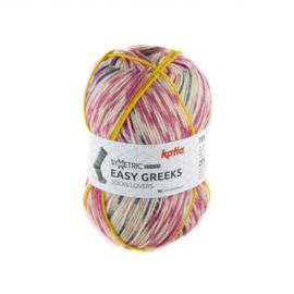 Katia - Easy Greeks Socks - 73 Medium bleekrood - Parelmoer - lichtviolet