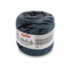 Katia Melody Jaquard - 256 Medium Blauw - Zwart