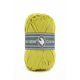 Durable Coral Katoen - 352 Lime