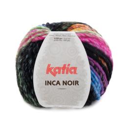 Katia Inca Noir - 357 Fuchsia-Blauw-Groen-Zwart