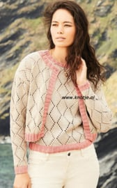 ROWAN Cotton Cashmere Vest Hepburn enof Trui Tracy