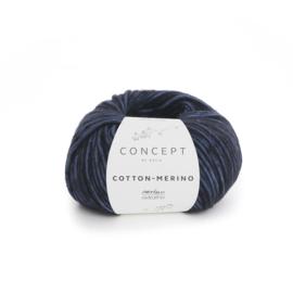 Katia Concept - Cotton-Merino 057 Nachtblauw-Zwart