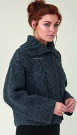 ROWAN Brushed Fleece Kabelvest Edge
