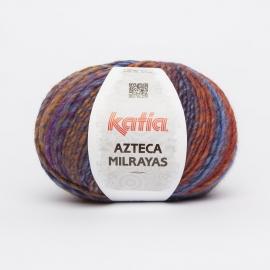 Katia Azteca Milrayas - 708 Donker oranje-Donker blauw-Nachtblauw