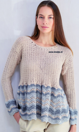 ROWAN Cotton Cashmere en Fine Lace gehaakte Trui Sheeler