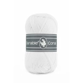 Durable Coral Katoen - 310 White
