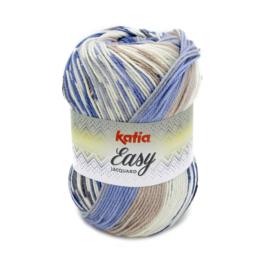Katia Easy Jacquard - 352 Blauw - Bruin