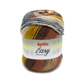 Katia Easy Jacquard - 354 Oker - Rood - Kaki