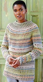 ROWAN Cotton Cashmere en Creative Linen gehaakte Trui Verona