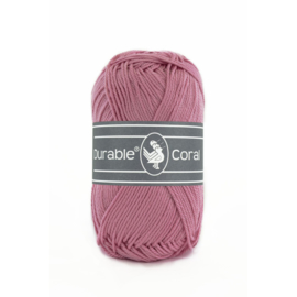 Durable Coral Katoen - 228 Raspberry