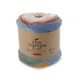 Katia - Fair Cotton Craft 500 Beige-Roestbruin-Zandgeel-Steengrijs