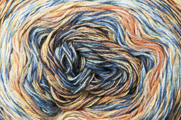 Katia Funny Rainbow - 102 Waterblauw-Beige-Geel-Oranje
