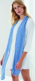 Peach Cotton Sjaal in netpatroon