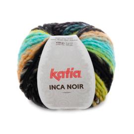 Katia Inca Noir - 356 Waterblauw-Terrabruin-Zwart