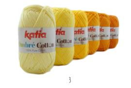 Katia Ombre Cotton - 03 Licht geel-Citroengeel-Geel-Geeloranje-Saffraangeel-Maisgeel