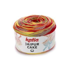 Katia Jaipur Cake - 400 Koraal - Groen - Geel - Rood