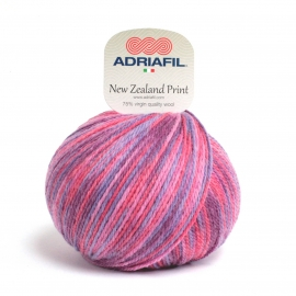 Adriafil - New Zealand Print - 23 Multicolour Lilac Fuchsia