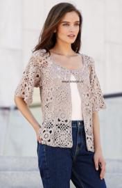 Donderdag 18-05-2017 Katia Cotton Cashmere gehaakt vest