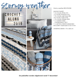 Crochet Along 2019 - Complications Rechthoek Stormy Weather