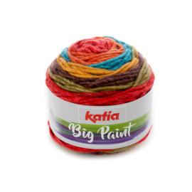 Katia Big Paint - 207 Blauw - Oranje - Rood