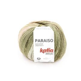 Katia Paraiso - 103 Waterblauw - Kaki - Citroengeel - Bleekrood