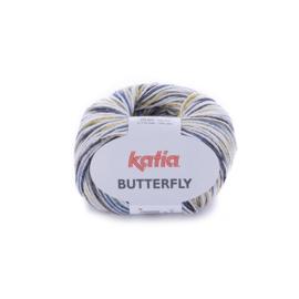 Katia Butterfly - 80 Geelgroen - Jeans - Grijs
