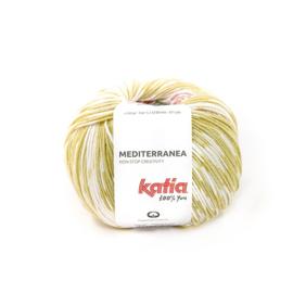 Katia Mediterranea 307 Citroengeel - Koraal - Waterblauw
