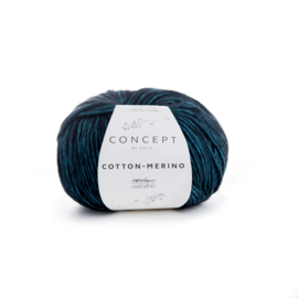 Katia Concept - Cotton-Merino 055 Turquoise-Zwart