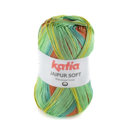 Katia - Jaipur Soft 105 Roestbruin - Geel - Groen