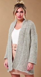 ROWAN Brushed Fleece Vest Latte