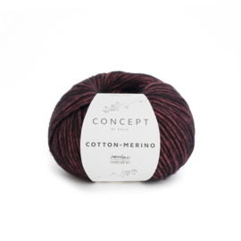 Katia Concept - Cotton-Merino 053 Rood-Zwart