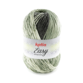 Katia Easy Jacquard - 307 Licht groen-Kaki-Dennegroen