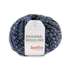 Katia Savana Mouline 205 Blauw - Hemelsblauw - Bruin