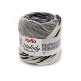 Katia Melody Jaquard - 251 Zwart - Ecru