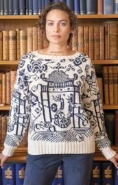 ROWAN Handknit Cotton Trui Wedgewood