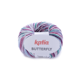 Katia Butterfly - 87 Bleekrood - Blauw - Groen