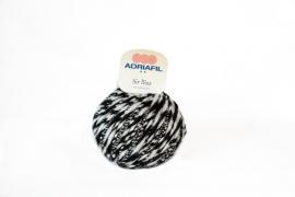 Adriafil Sir Biss 29 Black - White Mouliné