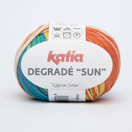 Katia Degrade Sun - 95 Ecru-Geelgroen-Oranje-Turquoise-Groen