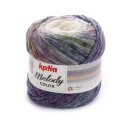 Katia Melody Color - 301 Ecru - Lila - Blauw
