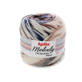Katia Melody Jacquard Print - 506 Ecru-Blauw-Bruin