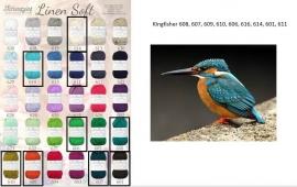 Cal 2015 Kingfisher pakket (15 bollen Linen-Soft)